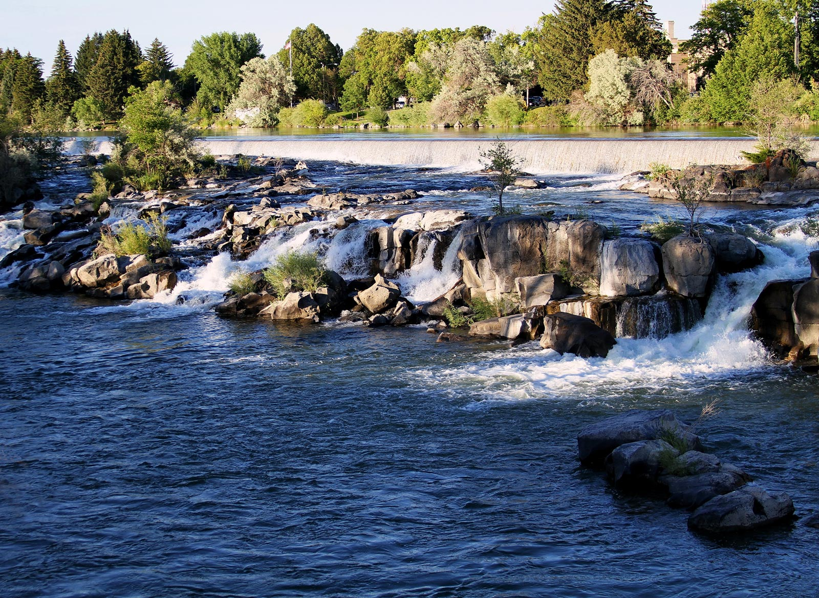The downtown falls in Idaho Falls